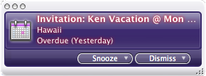 Overdue vacation reminder