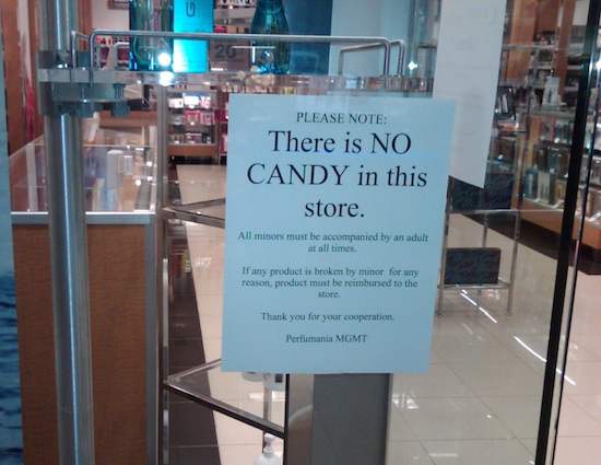 There is no candy in this store